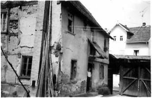 Nathans Haus, Hofseite, um 1963. Foto: Fam. Bund