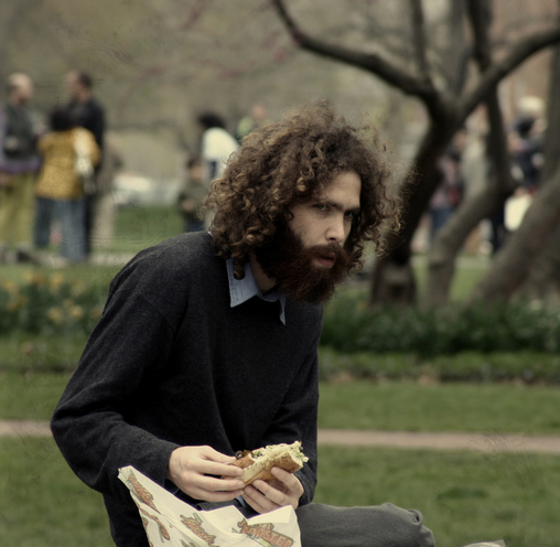 hippie caveman