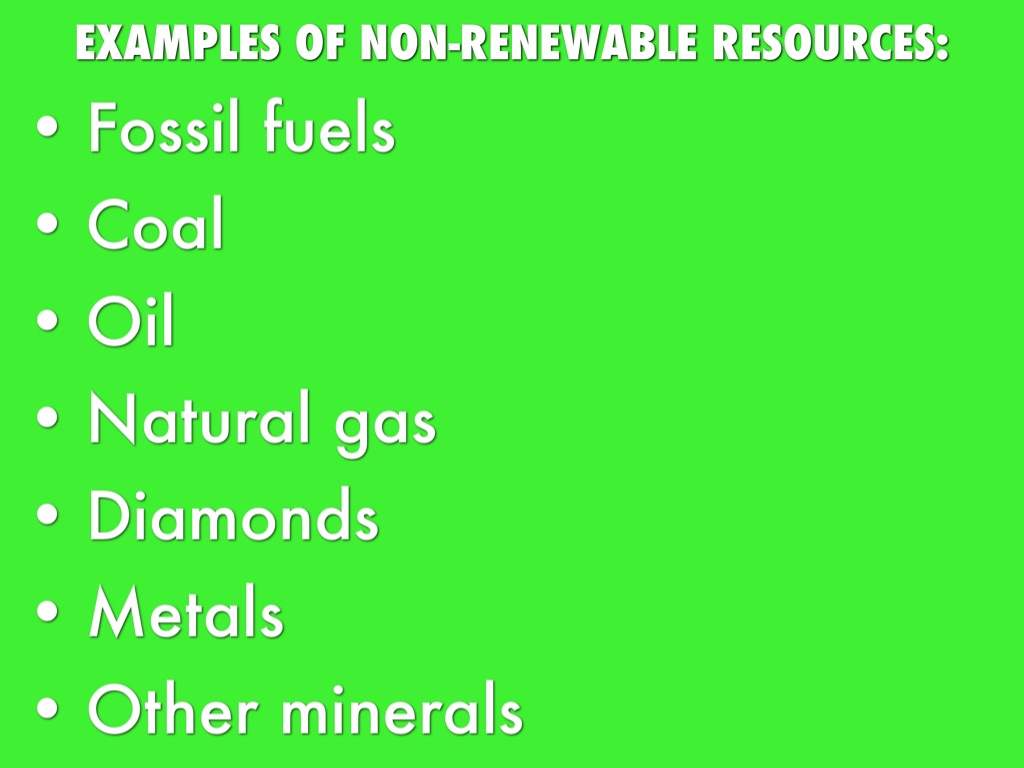 examples of non-renewable resource - eschool