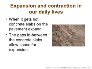 Expansion and contraction in daily life