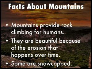Facts about mountains