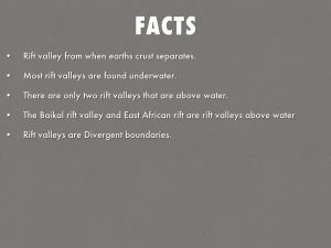 Facts about valley