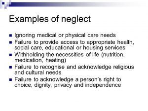 Examples of neglect