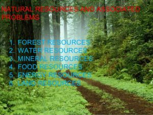 Problems of natural resources