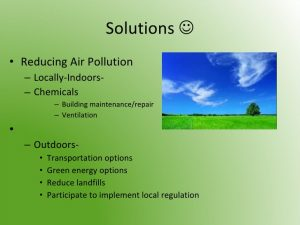 Solutions for air pollution