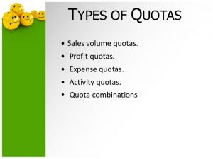 Types of quotas