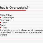 What is overweight