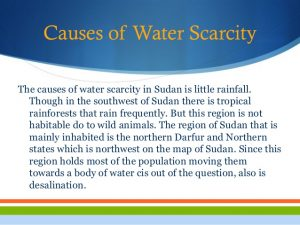 Causes of water shortage