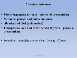 Common law nuisance