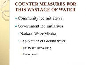 Measures to be taken to reduce water scarcity