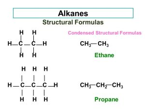 The formula of propane