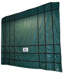 18' x 18' ESC HD Steel Tarp - 18oz. Green