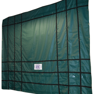18' x 18' ESC HD Steel Tarp - 18oz. Green