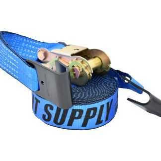"2"" x 30' Ratchet Strap with Flat Hook - Blue"