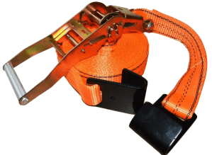 2x30 ratchet strap w black flat hook orange