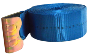 3 x 30 winch strap blue flat hook esc