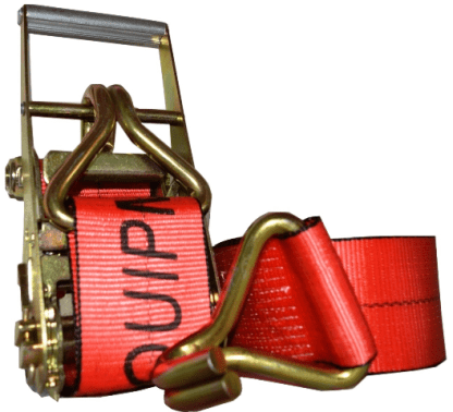 """4"""" x 30' esc branded ratchet strap with wire hook red"""