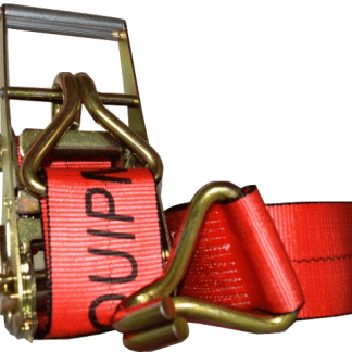 "4"" x 30' esc branded ratchet strap with wire hook red"