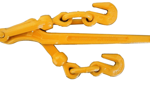 """5/16"""" - 3/8"""" lever binder with grab hooks HD 6600lb WLL yellow"""