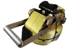 "3"" x 27' ratchet strap with flat hook yellow esc"