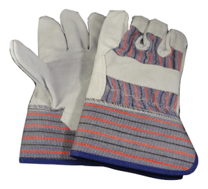 single palm red blue rigger gloves