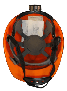 Orange Safety Helmet Inside - Ratcheting Adjustment