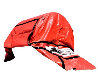 18oz RED COIL BAG, OPEN FLAP