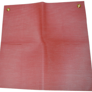 Heavy Duty Red Vinyl Mesh Warning Flag with Grommets 9123