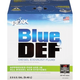 blue def 2.5 gal diesel exhaust fluid peak