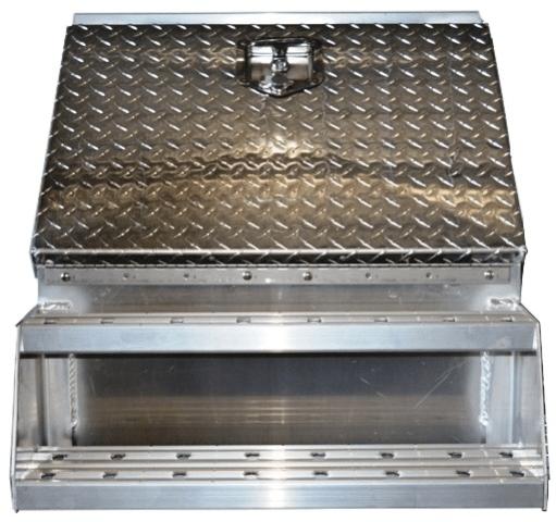 24 inch step box sturdy lite diamond plate aluminum