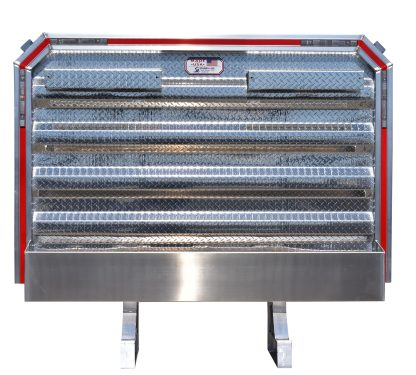 6880DF DELUXE CABRACK WITH 2 LCR, FULL 80IN CHAIN TRAY