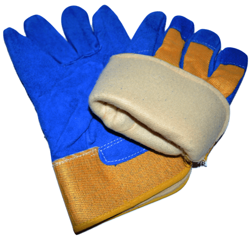 ESC Rigger Gloves Blue-Yellow with fleece liner web
