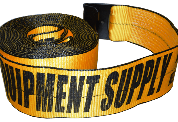 4in x 30ft ESC Winch Strap with Flat Hook Yellow - view 2