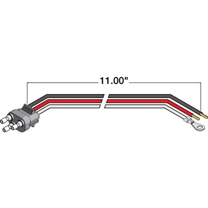 Truck-Lite® STOP/TURN/TAIL PLUG - 11 IN. 94926