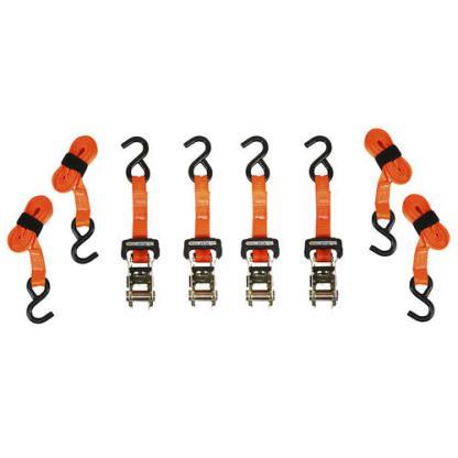 "SmartStraps® 10' x 1"" Orange Heavy Duty Ratchet Straps - 4 Pack"