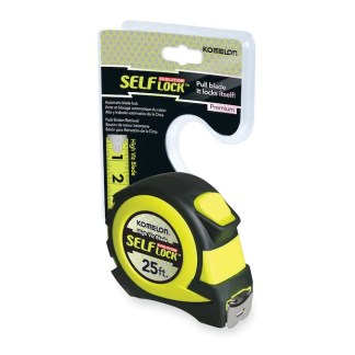 komelon safe lock 25ft measuring tape