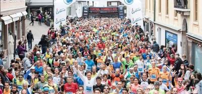 Folla di runners Cortina Dobbiaco