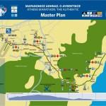 Maratona di Atene - mappa