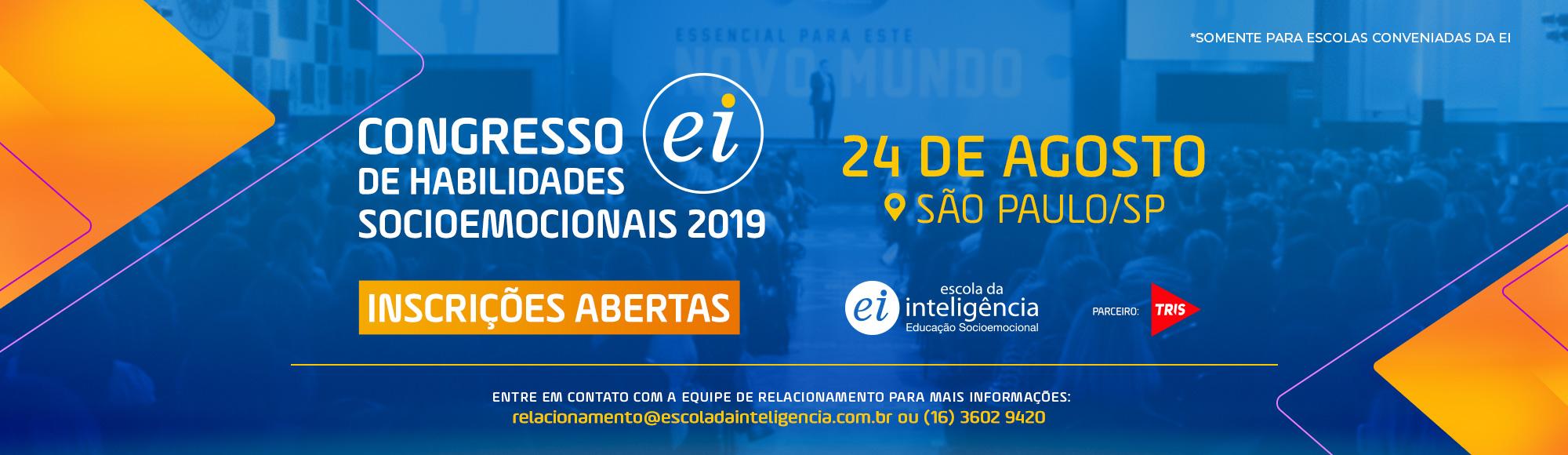 Banner de Site – Inscrições Abertas – Congresso 2019