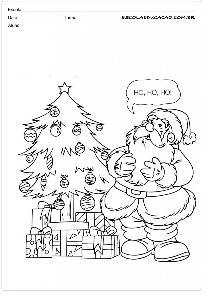Desenhos De Presentes De Natal Para Imprimir E Colorir