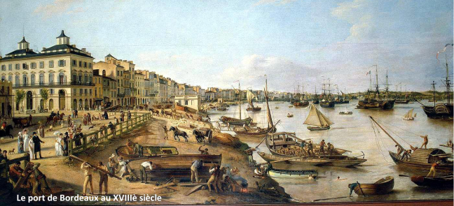 Le port de Bordeaux au 18ème siècle - Montesquieu