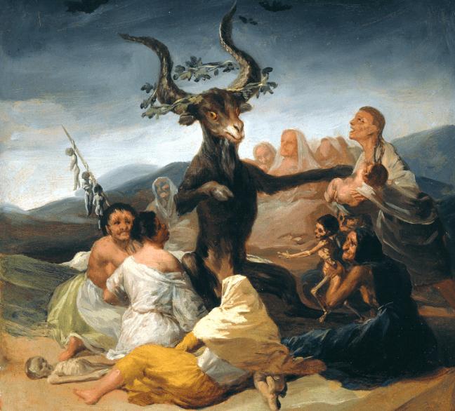 GOYA_-_El_aquelarre_(Museo_Lázaro_Galdiano,_Madrid,_1797-98) - Les sorcières