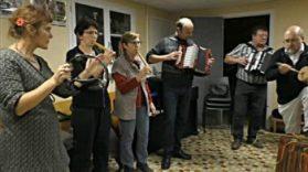 Le groupe des Aguilhonèrs en répétition