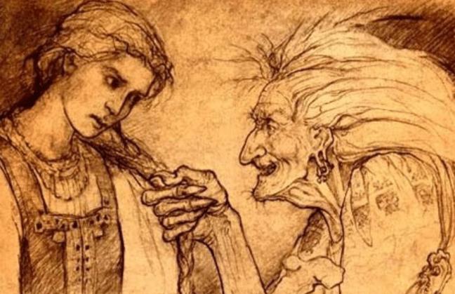 La jeune fille et la sorcière - la cama cause