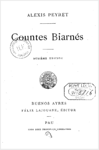 Alexis Peyret - Countes biarnes
