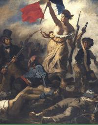 Alexis Peyret porteur des idées républicaines - E. Delacroix - La Liberté guidant le peuple (1848)