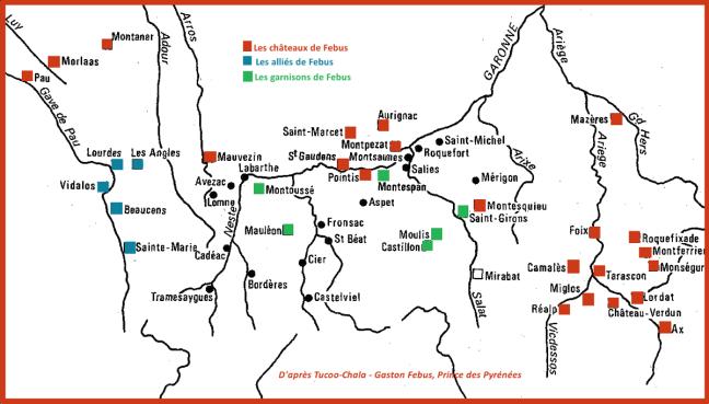 Le système des châteaux-forts entre Foix et Béarn