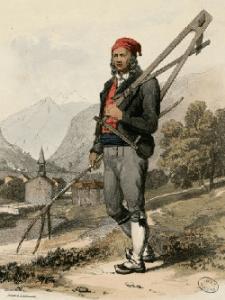 Paysan de la Vallée d'Aure vers 1830, un gavach pour les Espagnols