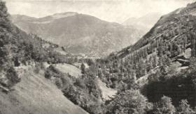 Ds troupeaux se réfugièrent dans la vallée de Larboust pour échapper à l'épizootie