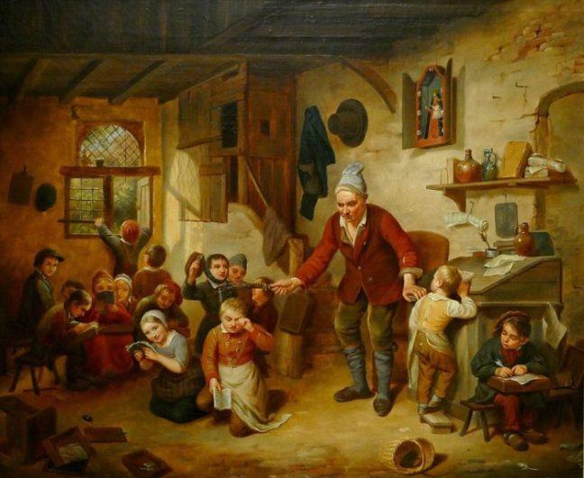 Scène de classe - Léopold Chibourg 1842